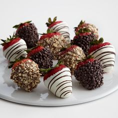Chocolate covered Strawberries for him.