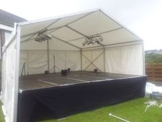 6m x 6m outdoor covered stage, installed by www.24carrotevents.co.uk