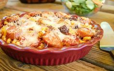 30 Minute Meat Lovers Pizza Pasta Bake