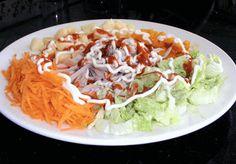 ♥ Mimos de Mãe ♥: Salada fria de frango Chocolate, Cabbage, Mexican, Vegetables, Ethnic Recipes, Food, Chicken, Salads, Ethnic Food