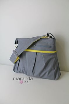 Stella DELUXE Diaper Bag Medium Purse Solid Gray by marandalee