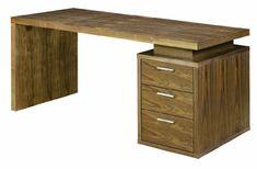 Benjamin Walnut Office Desk by Nuevo - HGSD126