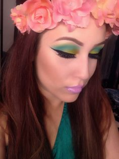 Makeup of the Day: FLOWER POWER by liddo. Browse our real-girl gallery #TheBeautyBoard on Sephora.com & upload your own look for the chance to be featured here! #Sephora #MOTD