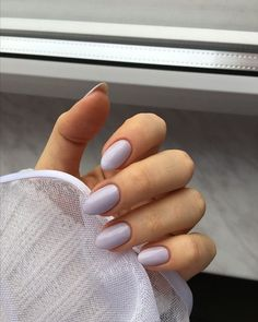 nageldesing Lila Nägel - # Nageldesign Hair Regrowth Formula Procerin is the most preferred hair reg Cute Nails, Pretty Nails, Hair And Nails, My Nails, Short Almond Nails, Short Oval Nails, Cute Almond Nails, Almond Shape Nails, Almond Acrylic Nails