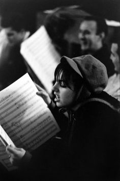 Unpublished. Liza Minnelli studies sheet music in rehearsals for Flora the Red Menace in 1965, a new musical in which she'd play a bohemian fashion designer during the Great Depression.