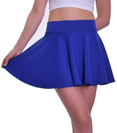 """Royal Blue Skater Skirt (~15.5"""" Length)"""