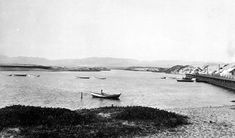 A boater on Ballona Lake, circa 1903, before it became Marina Del Rey, Los Angeles
