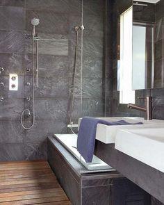 Ba o de cemento pulido bagni bathrooms pinterest bath - Banos de cemento pulido ...