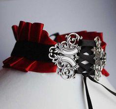 Gothic necklace victorian vampire neck corset by pinkabsinthe, $25.00