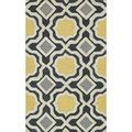 sink, fridge area  Hand-tufted Tatum Charcoal/ Gold Wool Rug (2'3 x 3'9) | Overstock.com