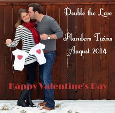 Twin Baby Announcement  Valentines Day Pregnancy reveal Double the love Twins Babies