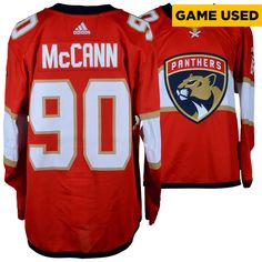 Jared Mccann Florida Panthers Fanatics Authentic Game-Used  90 Red Set 2 Jersey  worn between December 22 8531cc7f2