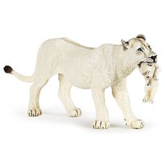 Papo 50203 White Lioness with Cub Model Wild Animal Lion Figurine Toy 2016 - NIP