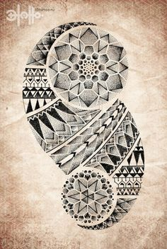 geometric tribal tattoo | Tattoos Dotwork Pointillism Pattern Mandala Geometric by carlasisters