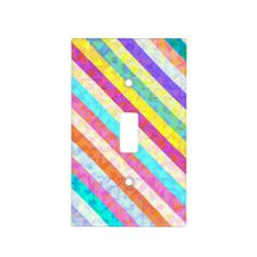 Rainbow Stripes Light Switch Cover