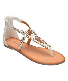 White & Tan Seeker Sandal