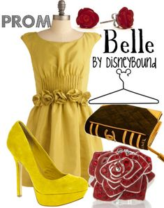 Disney-inspired prom outfits.  Too old for prom but love the collections!