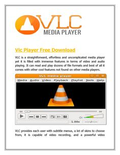 vlc player download video