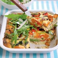 Diabetic friendly - Low carb - Low sodium - A Roasted vegie frittata Gluten Free Recipes For Dinner, Dinner Recipes, Veggie Frittata, Quiche, Diabetic Recipes, Healthy Recipes, Healthy Eating, Healthy Food, Vegetarian Paleo