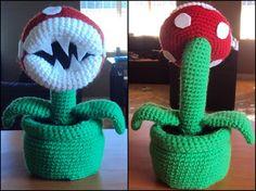 Piranha Plant - Mario Bros Amigurumi Free Crochet Pattern