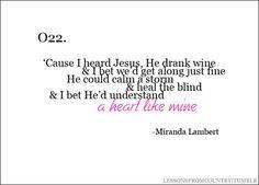 heart like mine miranda lambert