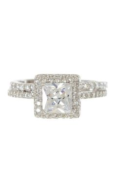 Like the way these rings sit - engagement + wedding band inspiration