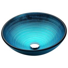 Enti Series Deco-Glass Vessel Sink in Lustrous Blue - ANZZI ANZZI Enti Series sink is a traditionally crafted round vessel sink adorned in a Lustrous Blue Finish. Each ANZZI vessel sink if formed using RHINO ALLOY certified high tempered Deco- His And Hers Sinks, How To Wash Vegetables, Home Furnishing Stores, Glass Vessel Sinks, Black Appliances, Shower Panels, Crackle Glass, Glass Material, Sink Faucets