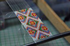 Bead loom weaving