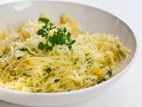 Baked Spaghetti Squash is a very simple recipe! Bake whole for an hour, toss with garlicky butter and it