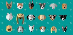 Cute Minimalist Dog Breeds Illustrations   #illustrations #minimal #puppies #dogs #dogbreeds