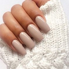 31 pretty nude nail ideas : Nude nails