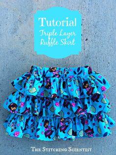 Triple-tiered skirt sewing tutorial (aka a Ra-ra skirt!)