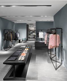 clothing store design Galleria Luxury Hall West Mens Store Designed by Burdifilek Boutique Interior, Clothing Store Interior, Clothing Store Design, Shop Interior Design, Interior Decorating, Boutique Store Design, Fashion Shop Interior, Fashion Showroom, Boutique Stores