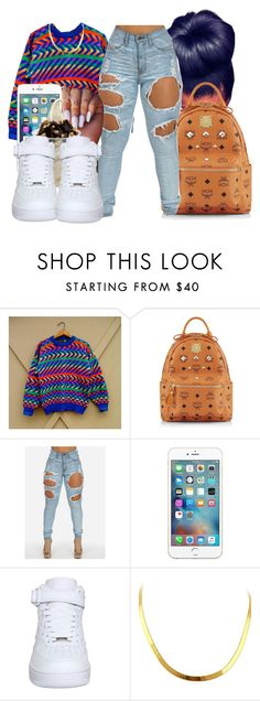 """""""Untitled #213"""" by oh-thatasia ❤ liked on Polyvore featuring MCM and NIKE"""