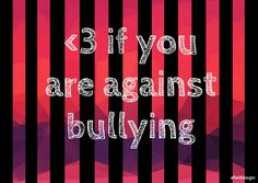 <3 and repin it up!! Stop Bullying, Anti Bullying, Helping Others, Helping People, Ur Beautiful, Faith In Humanity Restored, Keep Fighting, Worlds Of Fun, Life Lessons