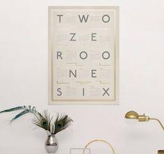 Kristina Krogh art print - 2016 Calendar beige x 2016 Calendar, Print Calendar, Calendars 2016, Wall Calendars, Grey And Gold, Colored Paper, Gold Style, Dear Santa, Picture Wall