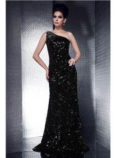 Brilliant Sheath/Column One-Shoulder Floor-Length Taline's Evening Dress