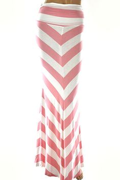V Striped High Waist Maxi Skirt $12.99!!