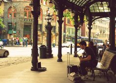 street performers in Pioneer Square...kind of a rough place when I was there last.