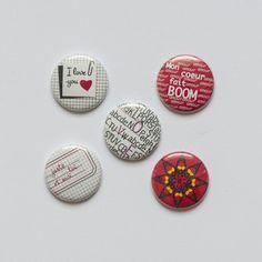 """Badges """"Grunge"""""""