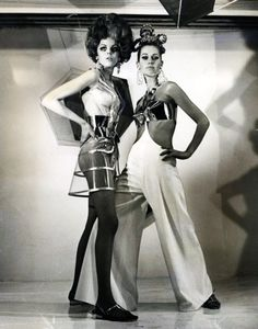 mylar and plastic play lead roles in the fashion of the future.