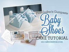 I have finally finished my baby shoes tutorial!I first began making these shoes using MMF, but found that gumpaste was a better...