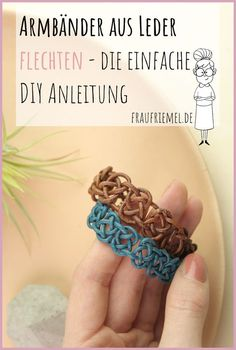 Lederarmband knüpfen leichtgemacht Leather bracelet make yourself with simple instructions. The perfect gift idea for girlfriend or mom. Diy Jewelry Rings, Diy Jewelry Unique, Diy Jewelry To Sell, Diy Jewelry Tutorials, Diy Jewelry Making, Bracelet Making, Beaded Jewelry, Gold Jewelry, Glasses For Your Face Shape