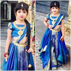 Best Fashion For Toddlers Kids Dress Patterns, Kids Clothes Patterns, Kids Lehenga, Kids Saree, Blue Lehenga, Lehenga Choli, Anarkali, Toddler Fashion, Kids Fashion