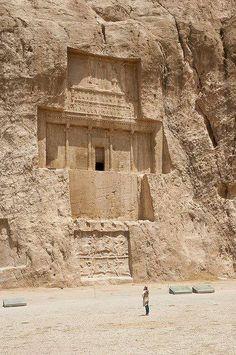 The tomb of Xerxes I at Naqsh-e Rustam