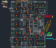 AutoCAD firefighting Files For Fire Sprinklers And Fire Alarm Project Autocad, Fire Sprinkler System, Sprinkler Pipe, Sprinkler Heads, Hvac Design, Fire Protection System, Hospital Architecture, Electrical Plan, Electrical Layout
