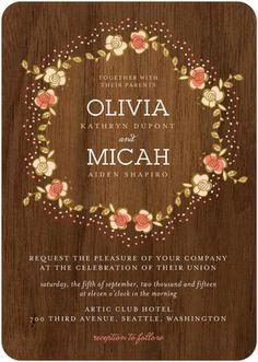Bring a Retro feel with this rustic Wedding Invitation.   Find more wedding invitation templates at www.WeddingPaperDivas.com.