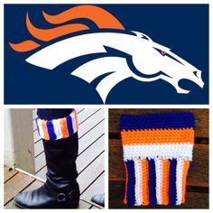77a18bdf37 Super cute crochet boot cuffs to cheer on your favorite team! The All  Stripes cuffs come in two color options