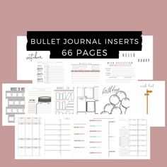 Bullet Journal Inserts, Inserts for Bullet Journal | Dotted Weekly Planner, Monthly Covers and Calendars, BUJO Dashboard, Pages by DesignerJaim on Etsy Goals Planner, Blog Planner, Weekly Planner, Bullet Journal Inserts, Media Kit Template, Business Planner, Bujo, Physics, Finding Yourself