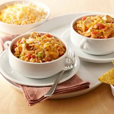 The favorite Tex-Mex casserole of chicken, tomatoes, cheese and tortillas becomes a hearty one-dish dinner with the addition of Zatarain's® Chicken Flavor Rice.